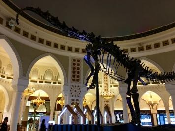 Dinosaurus v Dubai Mall