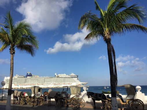 Výletná loď (jedna zo siedmych pristavených v ten deň!)