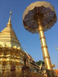Zlatý dáždnik - Doi Suthep