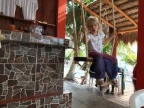 Mahahual - swing bar - Jamie's at the blue reef
